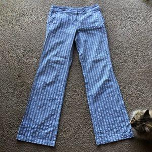 TOMMY HILFIGER SEERSUCKER PANTS BLUE/GRAY SZ 4